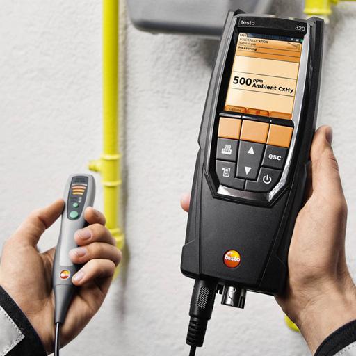testo 320 煙氣分析套裝-供熱系統工程師專用 訂貨號 0632 3220