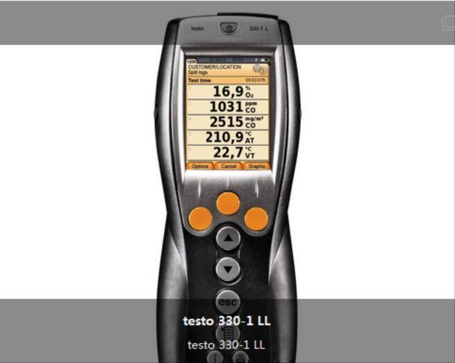 testo 330-1 LL - 增強版煙氣分析儀 訂貨號 0632 3306
